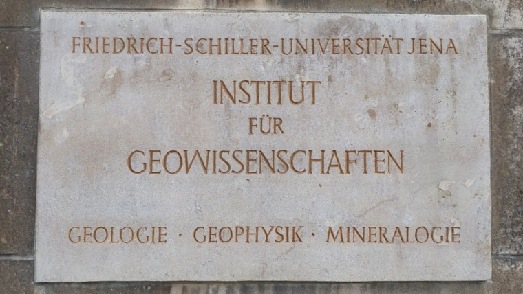 Stone plate in the entrance area